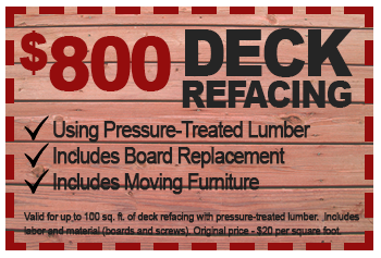 $800 deck refacing deal