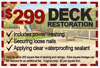 $299 deck restoration deal