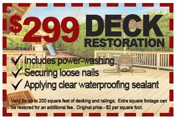 $299 deck restoration deal