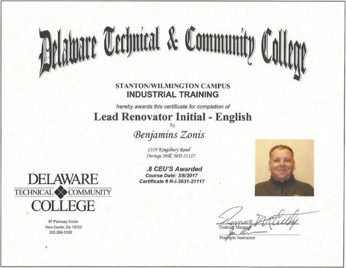 Lead Renovator Initial English