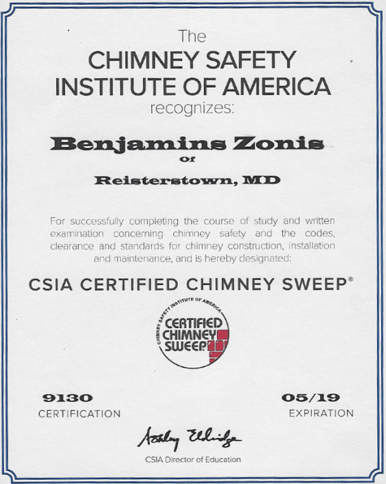 chimney safety institute of America certification