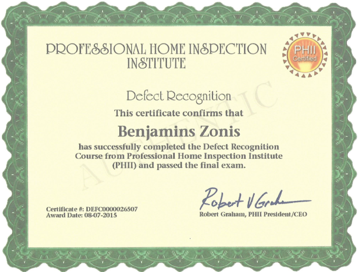 Professional Home Inspection certification Handyman On Call