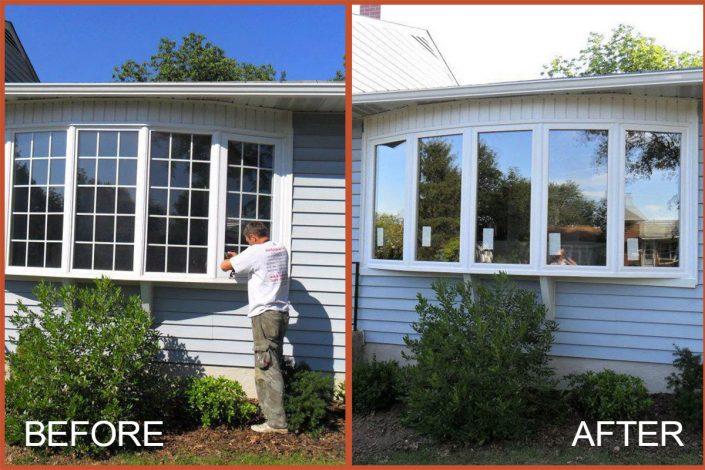 Replacing a bay window