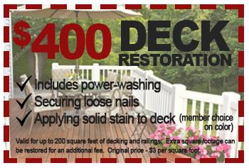 $400 deck restoration deal