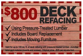 $800 deck refacing deal